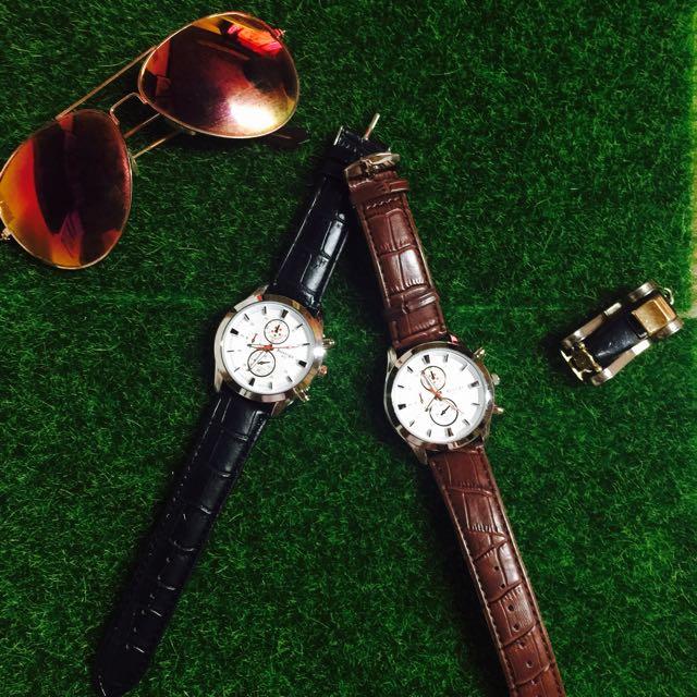 🔺皮革三眼錶🔺