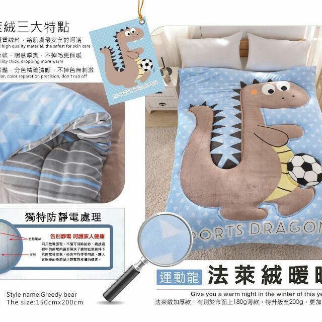 """📣台灣製-現貨""""加厚高密度""""可水洗法蘭絨暖被"""