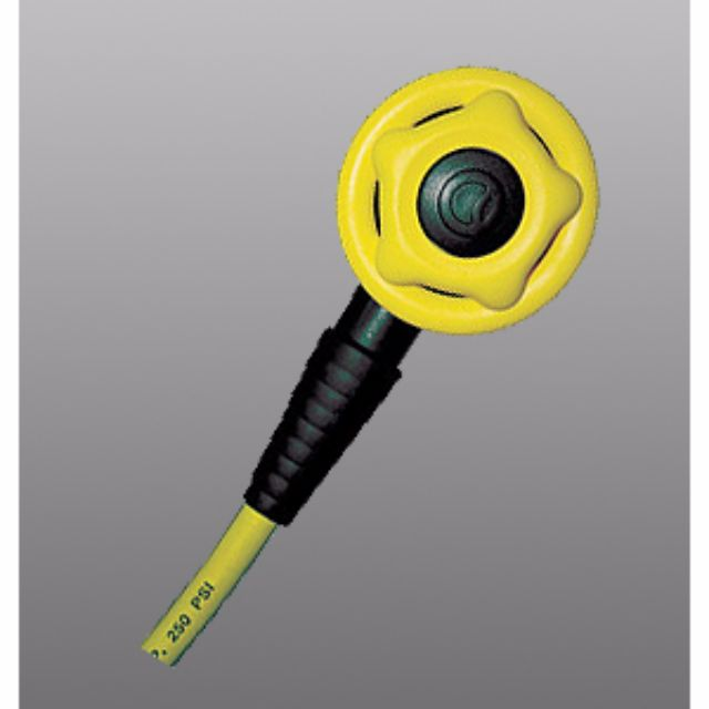 Aquamundo Basic Octopus no adjustment Yellow cover with 40″ Black hose