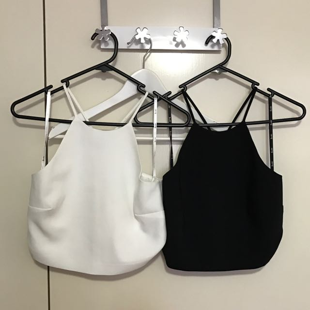 Bardot - Fitted Cropped Top With Halted Neckline