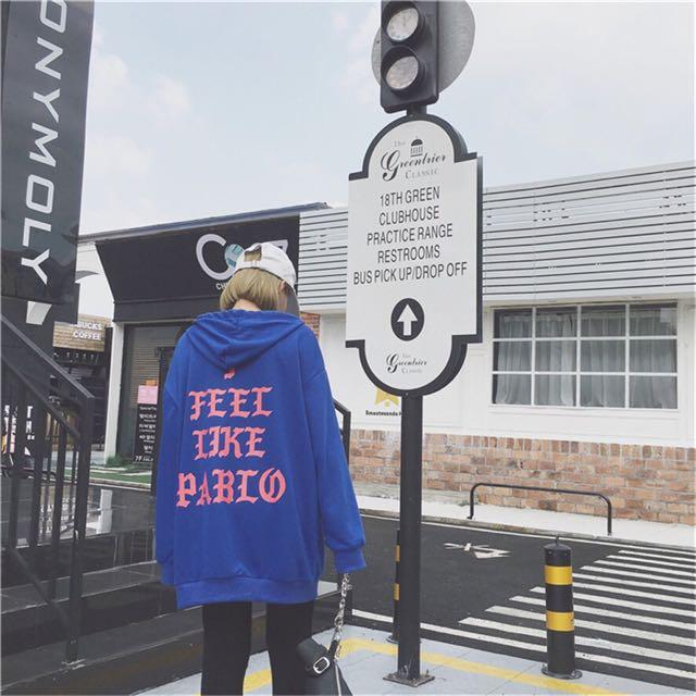 韓國學院風字母寬鬆BF連帽衛衣