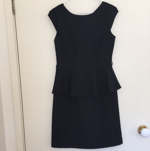 Size S - Black Peplum Dress