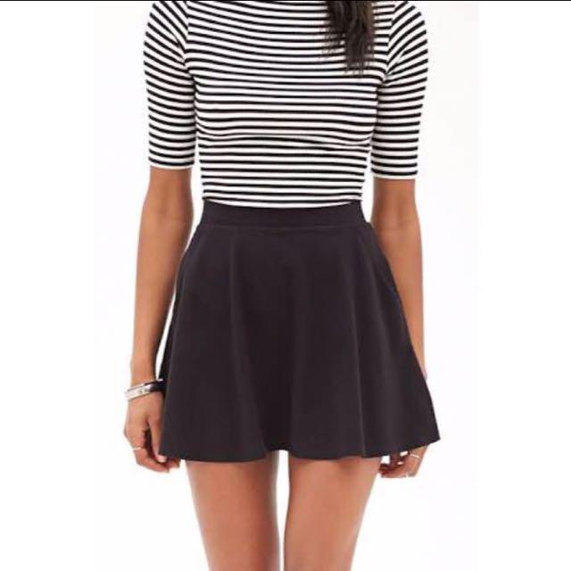 Black Skater Skirt Forever 21