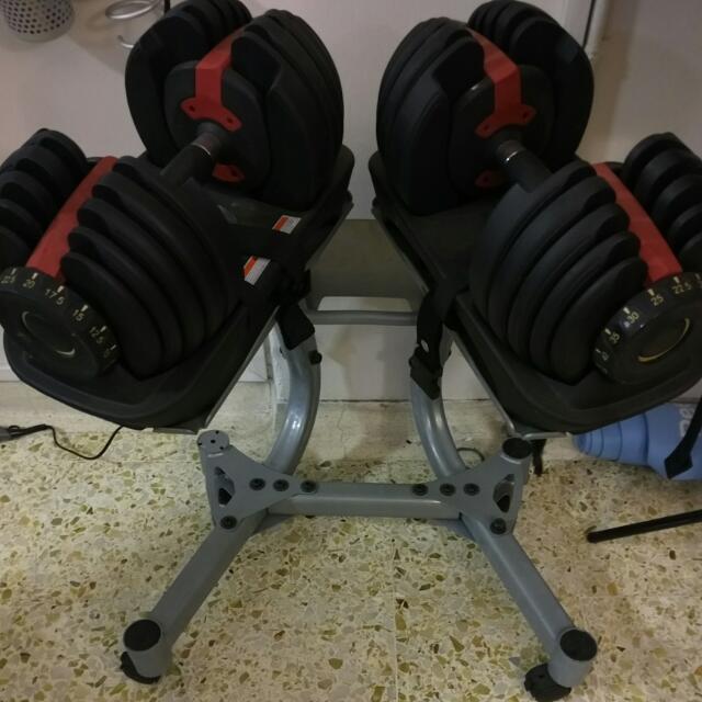 Bowflex SelectTech 552 Inspired Dumb Bells + Stand