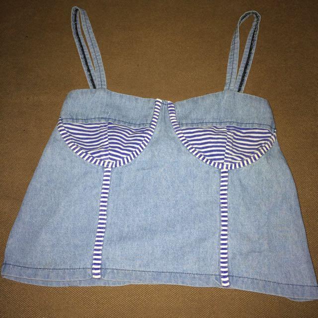 #DISCOUNT Rp.10,000,- Bustier crop jeans