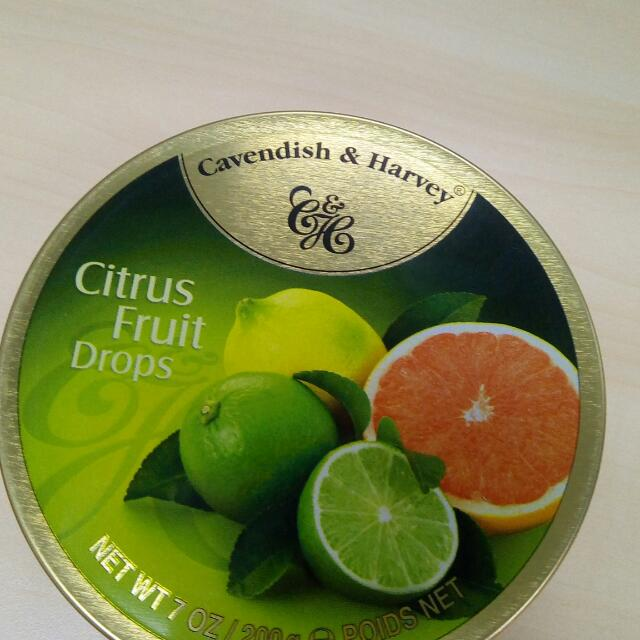 Cavendish & Harvey Drops Available In  Clear Mint Drops Citrus Fruit Drops
