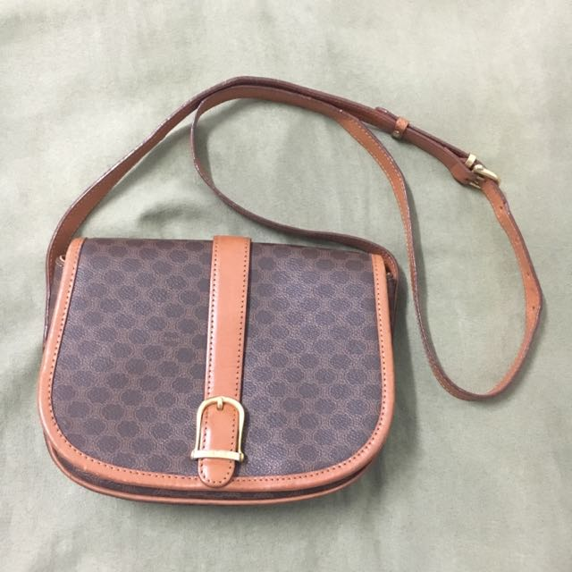 d4addfcd90 Authentic Celine Vintage Monogram Cross Body Bag