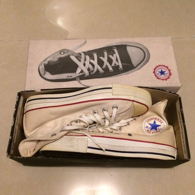 converse chuck taylor hi made in usa 美國製 米白色 高筒 帆布鞋 1970s 70s