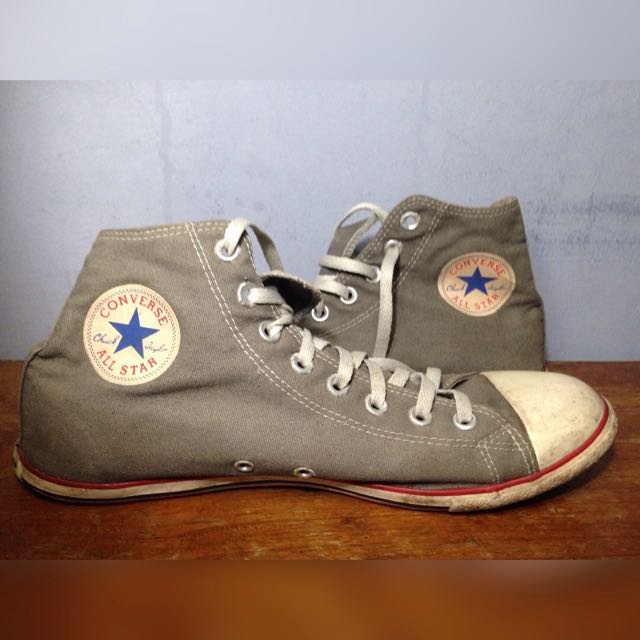 Converse slim high top grey original