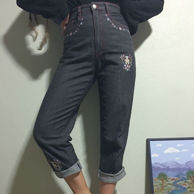 Embroidered Vintage Jeans