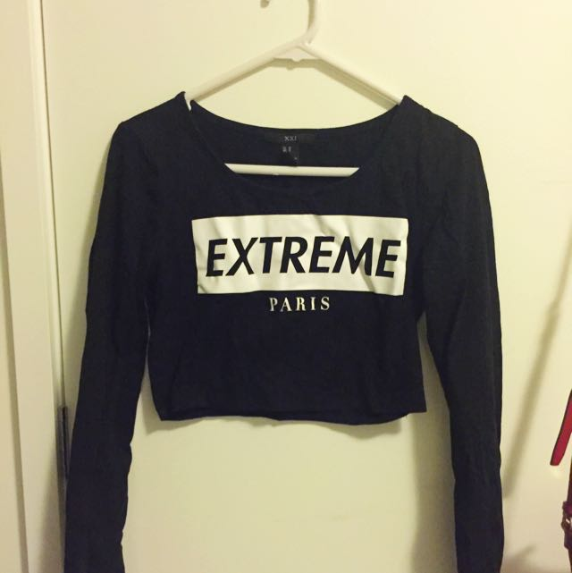 """Extreme"" Crop Tee (Forever 21)"
