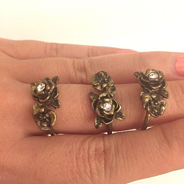 Forever21 Rings / Cincin (set Of 3)