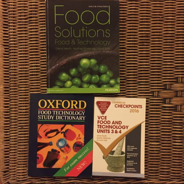 Good Technology Textbook Plus Food Dictionary And Revision Book