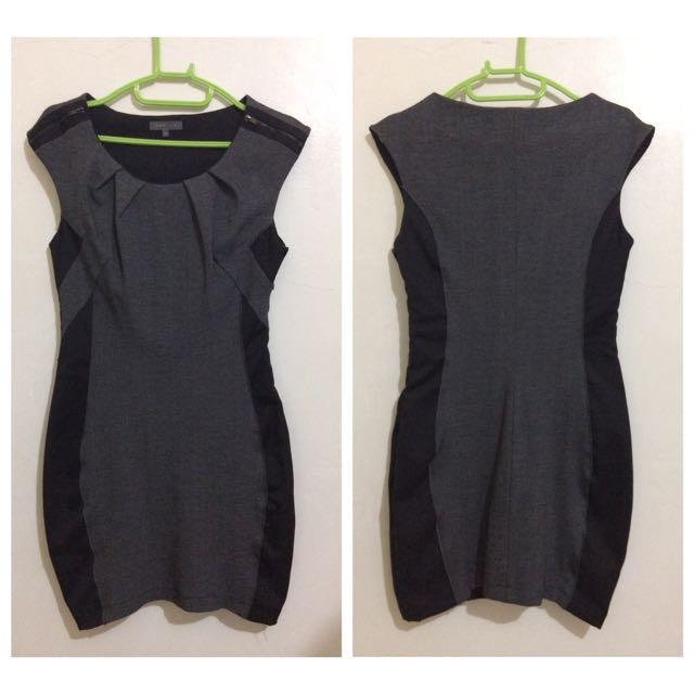 Gray/Black Bodycon Dress