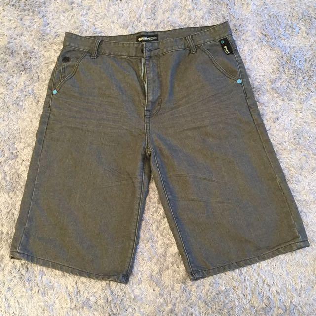 Grey ECKOUNLTD Jean Shorts