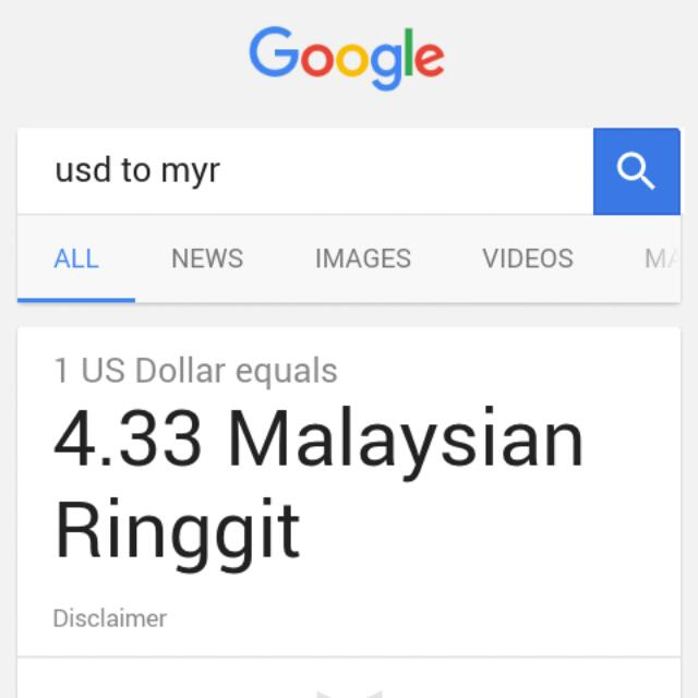 Harga Nilai Duit Usd Ke Myr Health Beauty Makeup On Carousell
