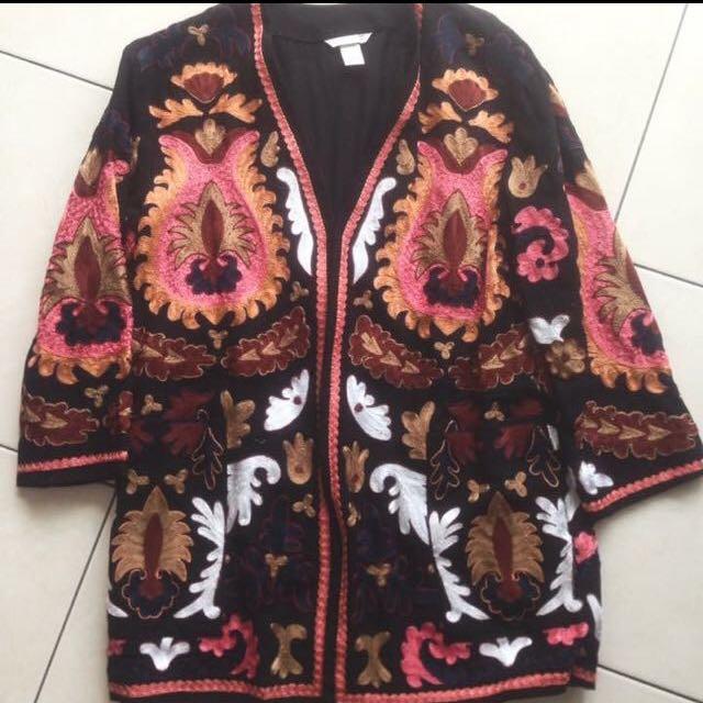 HM刺繡外套(選2件500有8折)
