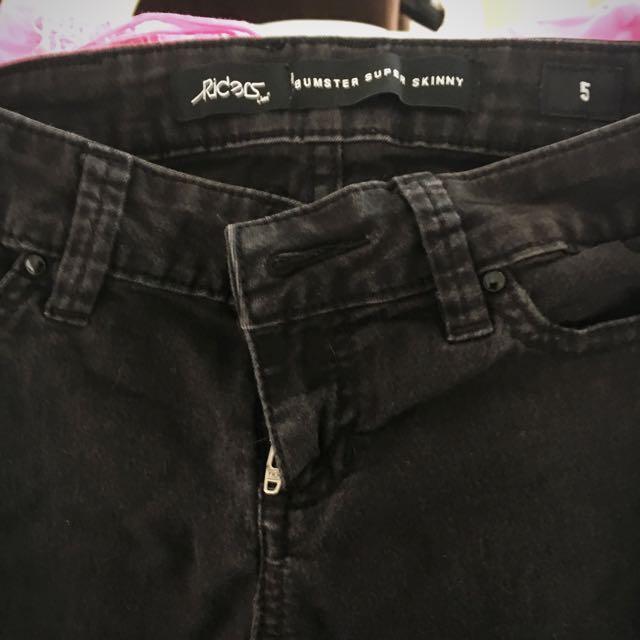 Lee Super skinny Black Jeans