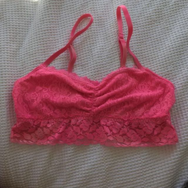 Neon Pink Lace Bralette