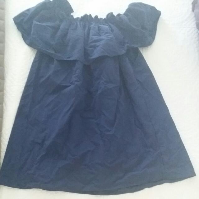 Otis And Maclain Navy Blue Dress Size 8