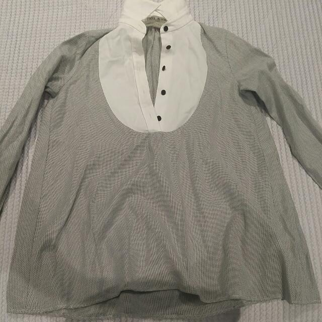 Paul And Joe Blouse Work Shirt Made In France Size 1 Fits Size 8-10