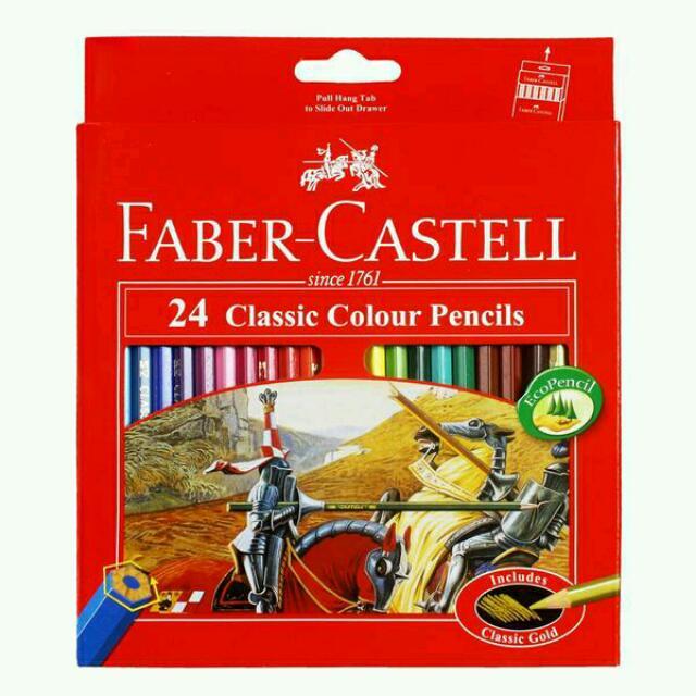 Pensil Warna Faber Castell 24 Panjang