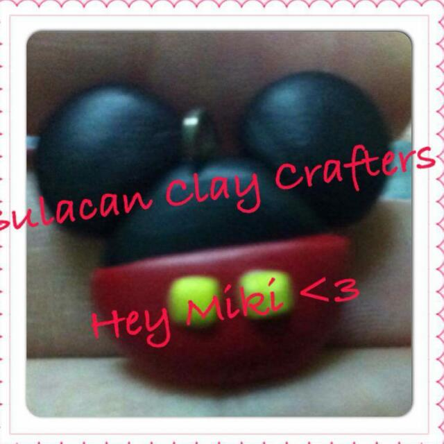 polymer clay mickey mouse charms