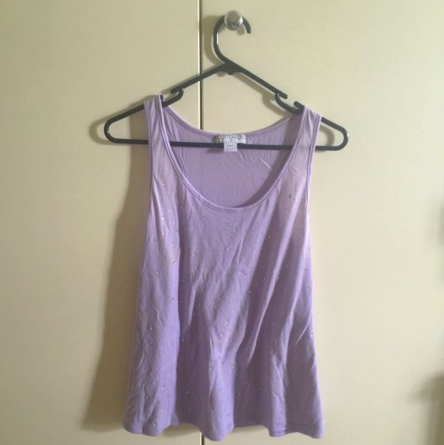 Purple Studded Midriff Tank