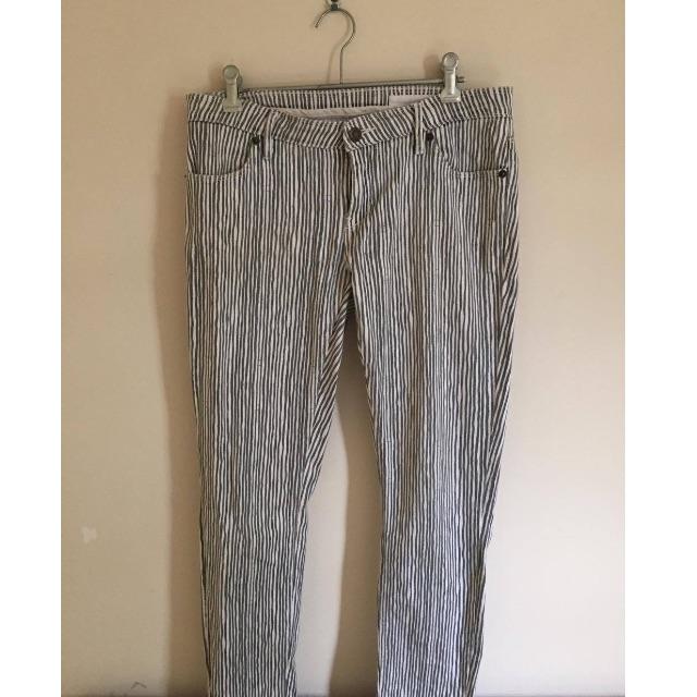 Sass & Bide, LOVE SHADY Grey Striped Low Ride Jeans