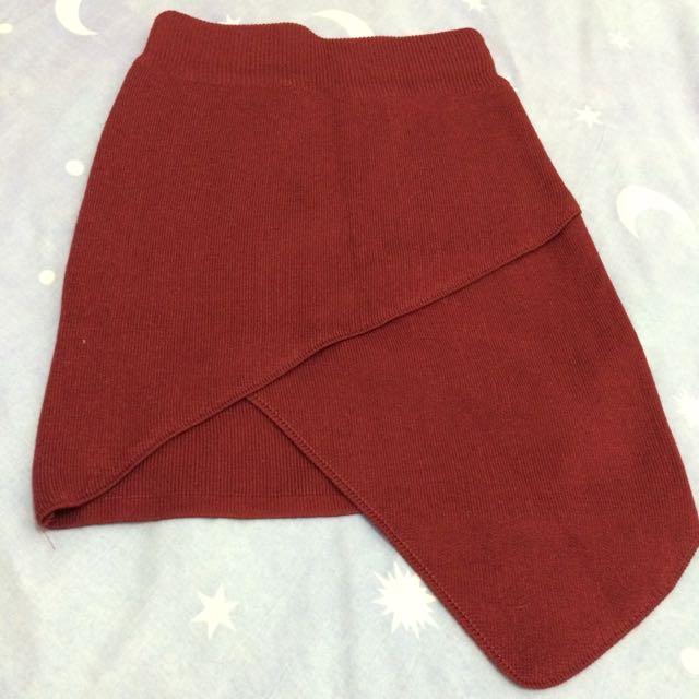 Sexy Maroon Skirt