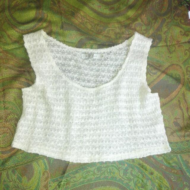 Size 10 Mink Pink Cropped Beach Top
