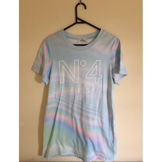 Stüssy Blue Rainbow Style T-shirt Dress
