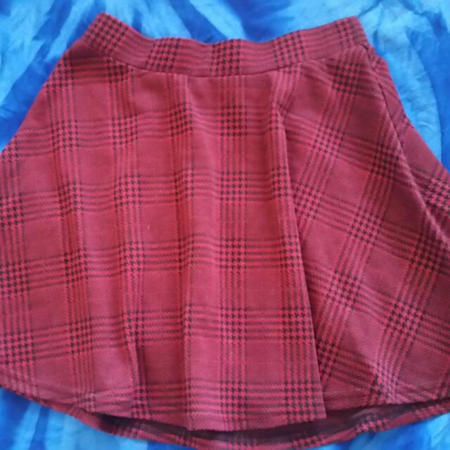 Tartan Skirt Size 8