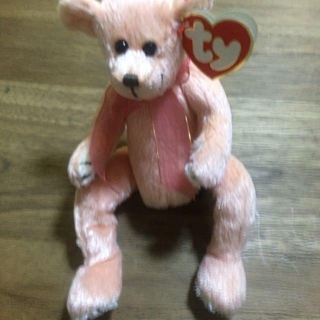 Ty Beanie Babies Attic Treasures Hayes Peach Bear 1993 Tag 9979e2ad820