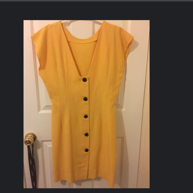Vintage Yellow Shift Dress