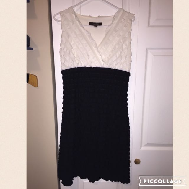 White And Black Cocktail Dress