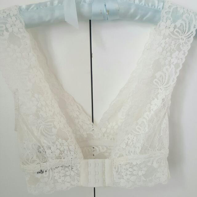 White Lace Bralet - Glassons