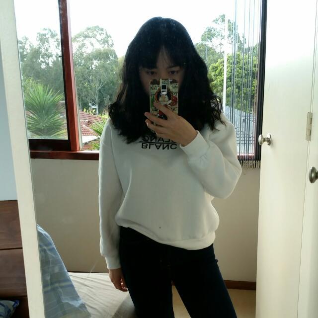 Korean Style White Sweater