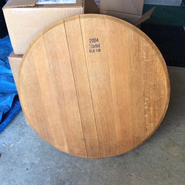 Wine Barrel Top - Lazy Suzan