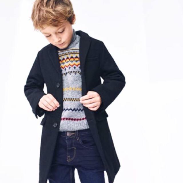 ZARA 男童10-12 毛呢絨大衣/長版外套 🌸嬌小女孩 可著用🌸