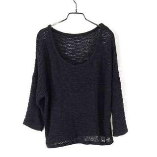 【SPICY HOLIC】黑色寬鬆針織衫