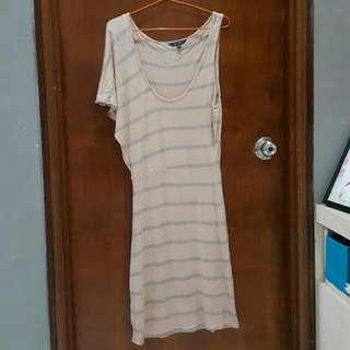 PORTMANS one shoulder striped midi dress
