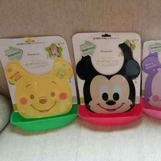 (現貨)日本迪士尼防水可拆兩用圍兜 米奇圍兜