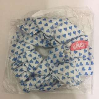✌️️cher雜誌贈品藍色愛心❤髮圈