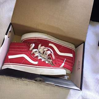 Red Hightop Vans