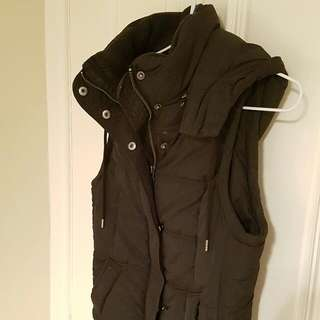 Witchery Hooded Black Vest Size S 8/10