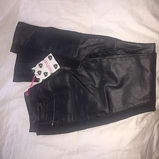 BNWT Boohoo Leather Look Pants