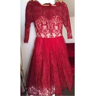Chi Chi London Vintage Red Dress