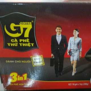 越南G7三合一咖啡,50元/盒