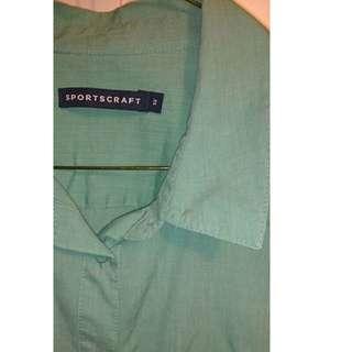 Sportscraft recent Green shirt size 12 euc